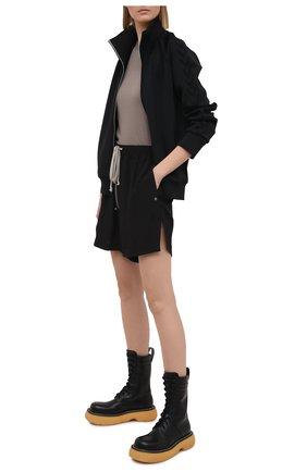 Женские шорты RICK OWENS черного цвета, арт. RP21S3310/CC   Фото 2