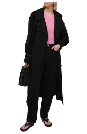 Женская майка из вискозы и шелка RICK OWENS розового цвета, арт. RP21S3101/RC   Фото 2