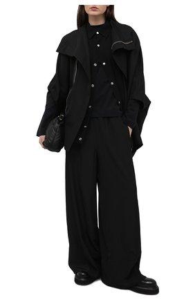 Женская куртка RICK OWENS черного цвета, арт. RP21S3767/TS   Фото 2