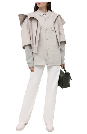 Женская куртка RICK OWENS светло-серого цвета, арт. RP21S3736/TS   Фото 2
