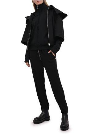 Женская куртка RICK OWENS черного цвета, арт. RP21S3736/TS   Фото 2