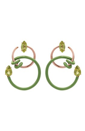 Женские серьги BEA BONGIASCA зеленого цвета, арт. VE214RGS-M/M | Фото 1