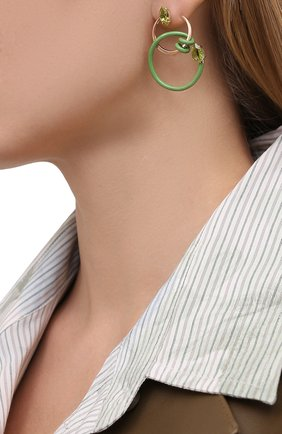Женские серьги BEA BONGIASCA зеленого цвета, арт. VE214RGS-M/M | Фото 2