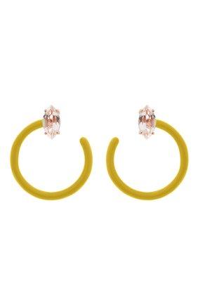 Женские серьги BEA BONGIASCA желтого цвета, арт. VE290RGS-Y/M | Фото 1 (Материал: Металл)