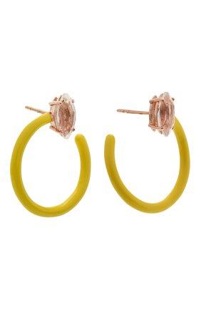 Женские серьги BEA BONGIASCA желтого цвета, арт. VE290RGS-Y/M | Фото 3 (Материал: Металл)