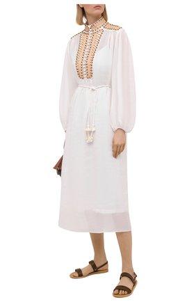 Женское платье ZIMMERMANN белого цвета, арт. 9955DBRG | Фото 2