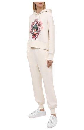 Женские джоггеры из хлопка ZIMMERMANN белого цвета, арт. 8232PAND | Фото 2