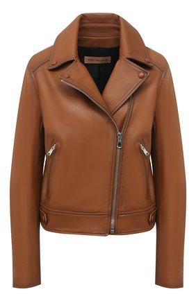 Женская кожаная куртка YVES SALOMON коричневого цвета, арт. 21EYV21652APAN | Фото 1