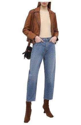 Женская кожаная куртка YVES SALOMON коричневого цвета, арт. 21EYV21652APAN | Фото 2