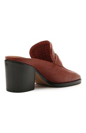 Женские кожаные мюли BOTTEGA VENETA коричневого цвета, арт. 651366/V0G80 | Фото 4