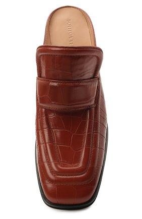 Женские кожаные мюли BOTTEGA VENETA коричневого цвета, арт. 651366/V0G80 | Фото 5
