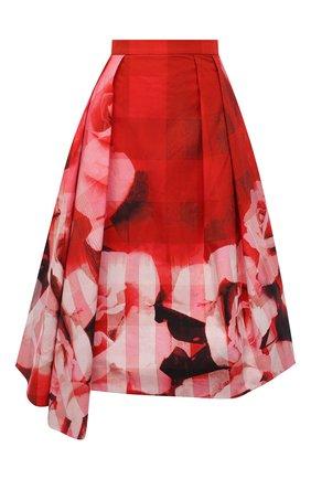 Женская хлопковая юбка ALEXANDER MCQUEEN красного цвета, арт. 651667/QCACC | Фото 1