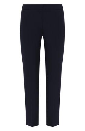 Женские хлопковые брюки ALEXANDER MCQUEEN темно-синего цвета, арт. 584873/QFAAH | Фото 1