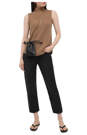 Женские кожаные шлепанцы AGL черного цвета, арт. D656034PHKS0471897   Фото 2