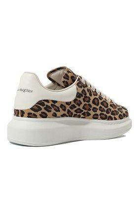 Женские замшевые кеды ALEXANDER MCQUEEN леопардового цвета, арт. 650786/WHZW2 | Фото 5