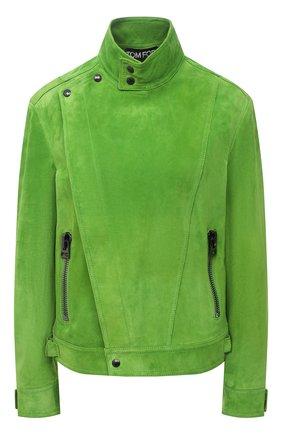 Женская замшевая куртка TOM FORD зеленого цвета, арт. CSL675-LEX226 | Фото 1
