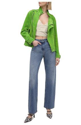 Женская замшевая куртка TOM FORD зеленого цвета, арт. CSL675-LEX226 | Фото 2