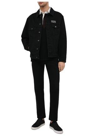 Мужские текстильные кеды malibu SAINT LAURENT черного цвета, арт. 606408/GUZ20 | Фото 2