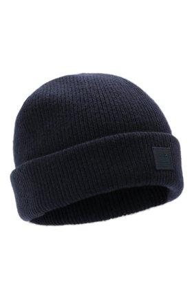 Мужская шерстяная шапка ACNE STUDIOS темно-синего цвета, арт. C40134/M | Фото 1