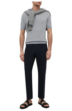 Мужские кожаные шлепанцы pelletessuta ERMENEGILDO ZEGNA черного цвета, арт. A4929X-LHPTE | Фото 2