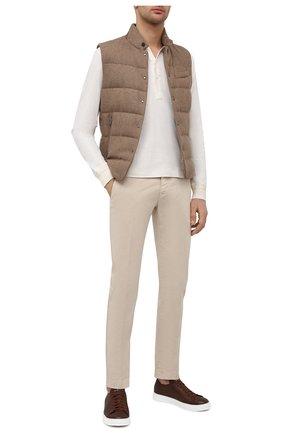 Мужские кожаные кеды H`D`S`N BARACCO коричневого цвета, арт. BRYAN.30* | Фото 2