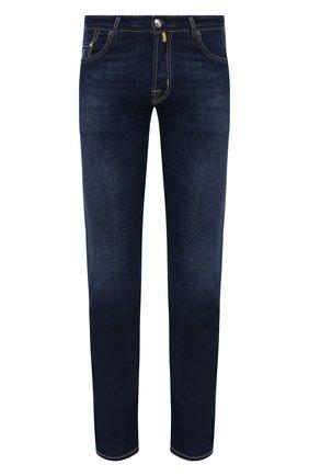 Мужские джинсы JACOB COHEN темно-синего цвета, арт. J620 C0MF 00919-W1/55 | Фото 1