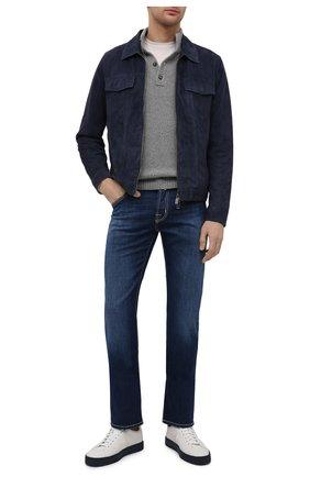 Мужские джинсы JACOB COHEN темно-синего цвета, арт. J620 C0MF 00919-W1/55 | Фото 2