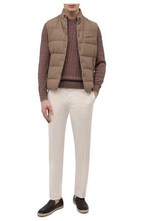 Мужские кожаные эспадрильи DOUCAL'S коричневого цвета, арт. DU2674VULCUZ053AM08 | Фото 2 (Материал внутренний: Натуральная кожа)