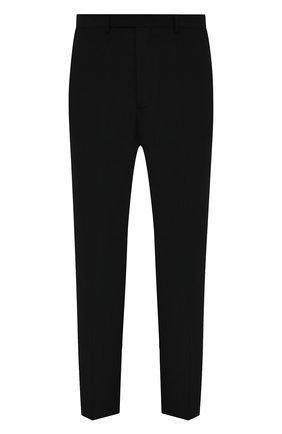 Мужские брюки RICK OWENS черного цвета, арт. RU21S6374/TS | Фото 1 (Материал подклада: Купро; Случай: Повседневный; Материал внешний: Синтетический материал; Длина (брюки, джинсы): Стандартные; Стили: Минимализм)