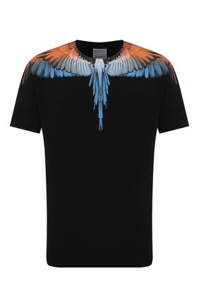 Мужская хлопковая футболка MARCELO BURLON черного цвета, арт. CMAA018R21JER001 | Фото 1 (Материал внешний: Хлопок; Рукава: Короткие; Принт: С принтом; Длина (для топов): Стандартные; Стили: Кэжуэл)