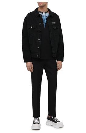 Мужская хлопковая футболка MARCELO BURLON черного цвета, арт. CMAA018R21JER001 | Фото 2 (Материал внешний: Хлопок; Рукава: Короткие; Принт: С принтом; Длина (для топов): Стандартные; Стили: Кэжуэл)