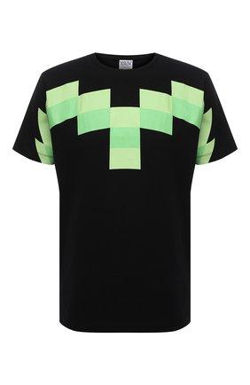 Мужская хлопковая футболка MARCELO BURLON черного цвета, арт. CMAA075R21JER002 | Фото 1 (Принт: С принтом; Рукава: Короткие; Материал внешний: Хлопок; Длина (для топов): Стандартные; Стили: Кэжуэл)