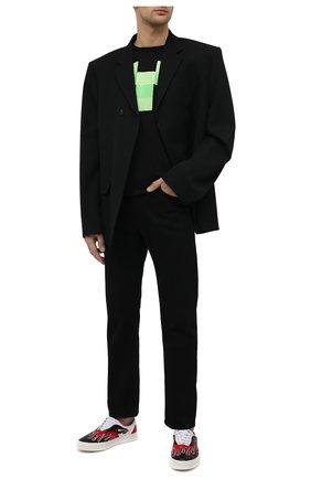 Мужская хлопковая футболка MARCELO BURLON черного цвета, арт. CMAA075R21JER002 | Фото 2 (Принт: С принтом; Рукава: Короткие; Материал внешний: Хлопок; Длина (для топов): Стандартные; Стили: Кэжуэл)