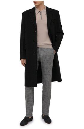 Мужские брюки MARCO PESCAROLO серого цвета, арт. SLIM80/4345 | Фото 2 (Стили: Классический; Случай: Формальный; Длина (брюки, джинсы): Стандартные; Материал внешний: Шелк)