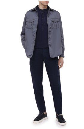 Мужская хлопковая рубашка ASPESI темно-синего цвета, арт. S1 A AY45 9408 | Фото 2