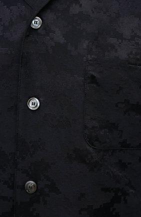 Мужская рубашка ASPESI темно-синего цвета, арт. S1 A CE53 G422 | Фото 5 (Манжеты: На пуговицах; Рукава: Длинные; Случай: Повседневный; Материал внешний: Синтетический материал, Хлопок; Длина (для топов): Стандартные; Принт: С принтом; Воротник: Отложной; Стили: Кэжуэл)