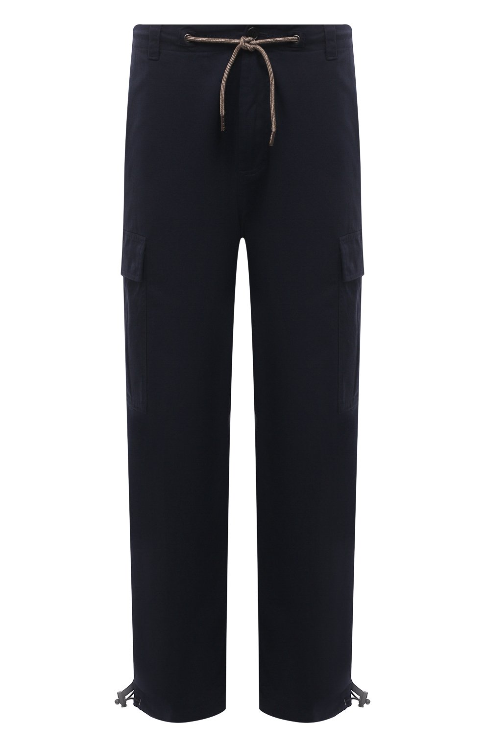 Мужские хлопковые брюки-карго ASPESI темно-синего цвета, арт. S1 A CP10 E794 | Фото 1 (Силуэт М (брюки): Карго; Длина (брюки, джинсы): Стандартные; Случай: Повседневный; Материал внешний: Хлопок; Стили: Кэжуэл)