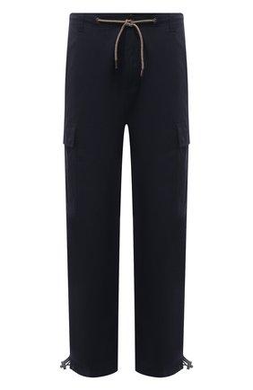 Мужские хлопковые брюки-карго ASPESI темно-синего цвета, арт. S1 A CP10 E794 | Фото 1 (Силуэт М (брюки): Карго; Длина (брюки, джинсы): Стандартные; Материал внешний: Хлопок; Стили: Кэжуэл; Случай: Повседневный)