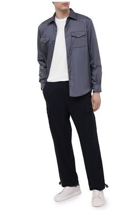 Мужские хлопковые брюки-карго ASPESI темно-синего цвета, арт. S1 A CP10 E794 | Фото 2