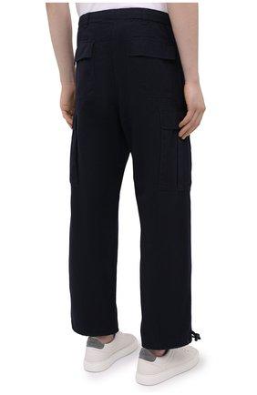 Мужские хлопковые брюки-карго ASPESI темно-синего цвета, арт. S1 A CP10 E794 | Фото 4 (Силуэт М (брюки): Карго; Длина (брюки, джинсы): Стандартные; Случай: Повседневный; Материал внешний: Хлопок; Стили: Кэжуэл)