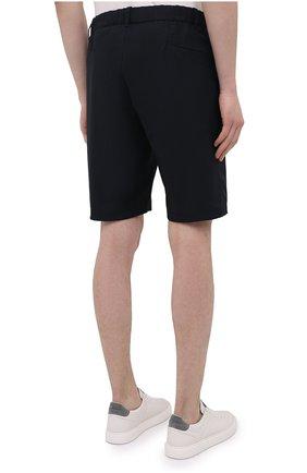Мужские шорты ASPESI темно-синего цвета, арт. S1 A CQ32 G457 | Фото 4 (Мужское Кросс-КТ: Шорты-одежда; Длина Шорты М: До колена; Принт: Без принта; Материал внешний: Синтетический материал; Стили: Кэжуэл)