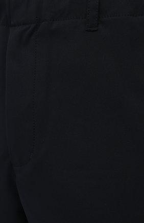 Мужские шорты ASPESI темно-синего цвета, арт. S1 A CQ32 G457 | Фото 5 (Мужское Кросс-КТ: Шорты-одежда; Длина Шорты М: До колена; Принт: Без принта; Материал внешний: Синтетический материал; Стили: Кэжуэл)