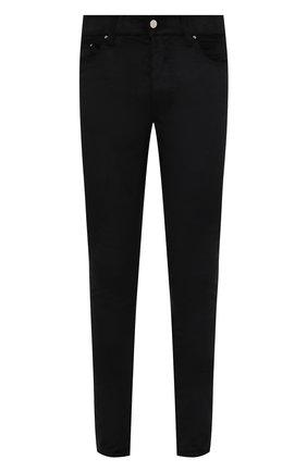 Мужские брюки AMIRI черного цвета, арт. MPS001-001 | Фото 1 (Материал внешний: Синтетический материал, Хлопок; Стили: Гранж; Длина (брюки, джинсы): Стандартные; Случай: Повседневный)