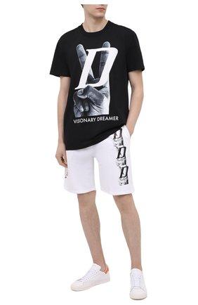 Мужская хлопковая футболка DIEGO VENTURINO черного цвета, арт. SS21-DV TS0 VDL | Фото 2