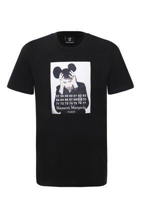 Мужская хлопковая футболка DIEGO VENTURINO черного цвета, арт. SS21-DV TS0 MMP | Фото 1