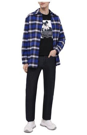 Мужская хлопковая футболка DIEGO VENTURINO черного цвета, арт. SS21-DV TS0 MMP | Фото 2