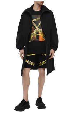 Мужская хлопковая футболка DIEGO VENTURINO черного цвета, арт. SS21-DV TS0 MCS | Фото 2