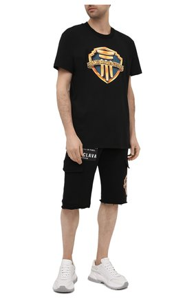 Мужская хлопковая футболка DIEGO VENTURINO черного цвета, арт. SS21-DV TS0 BBPU | Фото 2