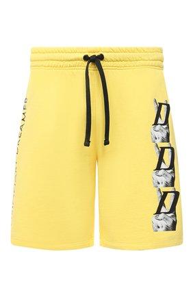 Мужские хлопковые шорты DIEGO VENTURINO желтого цвета, арт. SS21-DV SRT VDL | Фото 1