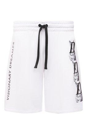 Мужские хлопковые шорты DIEGO VENTURINO белого цвета, арт. SS21-DV SRT VDL | Фото 1